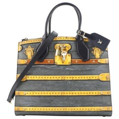 Louis Vuitton City Steamer Handbag Limited Edition Time Trunk Canvas MM