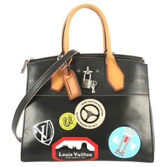 Louis Vuitton City Steamer Handbag Limited Edition World Tour Leather MM