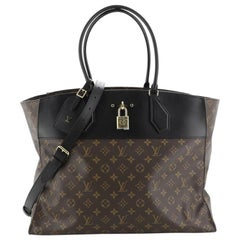 Louis Vuitton City Steamer Handbag Monogram Canvas XXL