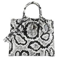 Louis Vuitton City Steamer Handbag Python PM
