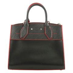 Louis Vuitton City Steamer Handbag Smooth Calfskin with Epi Leather PM