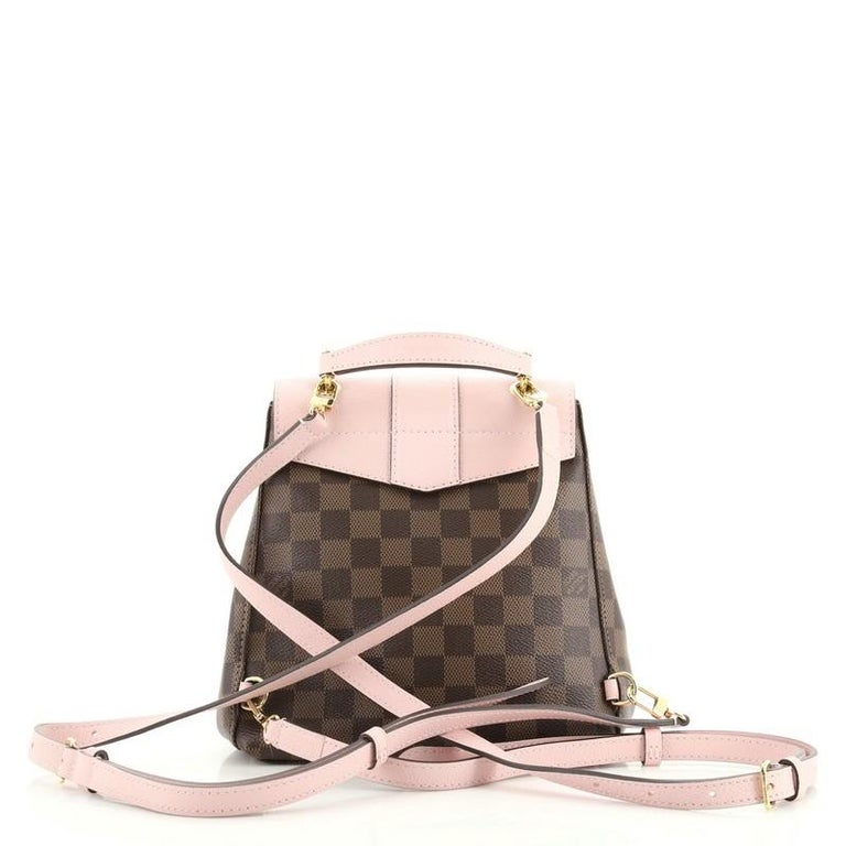 Gray Louis Vuitton Clapton Backpack Damier and Leather For Sale