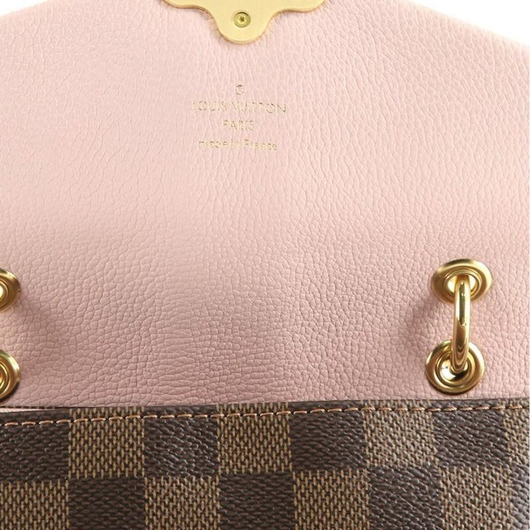 Louis Vuitton Clapton Backpack Damier and Leather For Sale 1