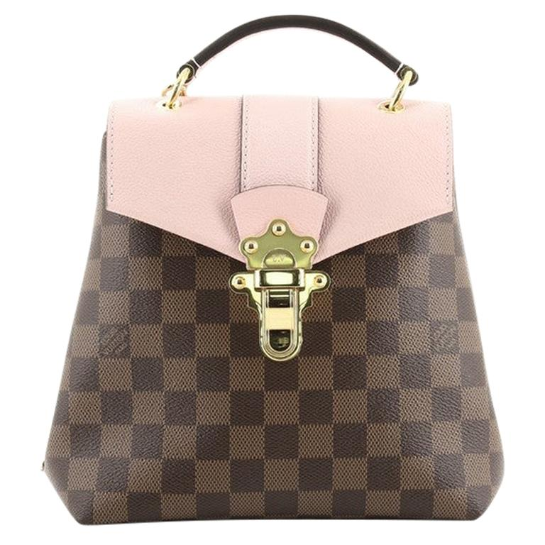 Louis Vuitton Clapton Backpack Damier and Leather For Sale