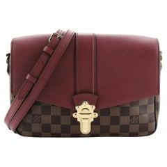 Louis Vuitton Clapton Handbag Damier and Leather PM