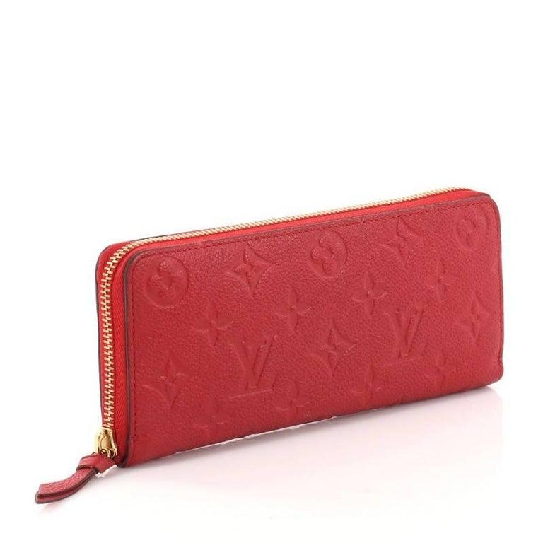 e9d6b60be27a Louis Vuitton Clemence Wallet Monogram Empreinte Leather At 1stdibs