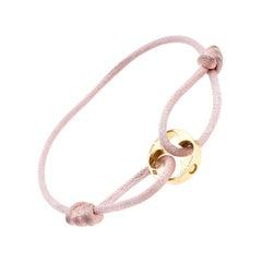 Louis Vuitton Clous 18k Yellow Gold Pink Cord Adjustable Bracelet