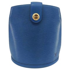 LOUIS VUITTON Cluny Shoulder bag in Blue Leather