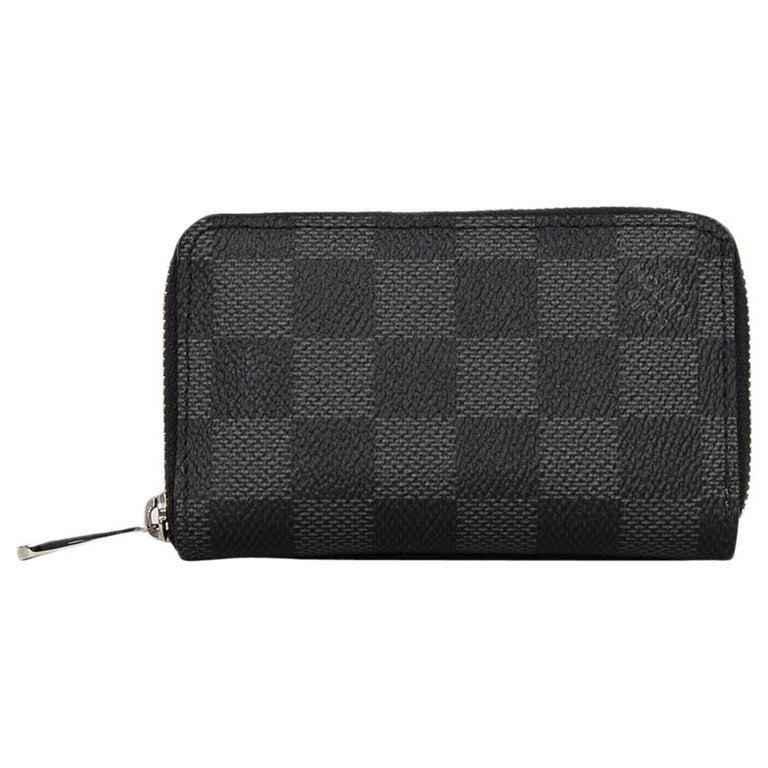 d80fb053679 Louis Vuitton Coated Canvas Damier Graphite Zippy Coin Purse Vertical Card  Case