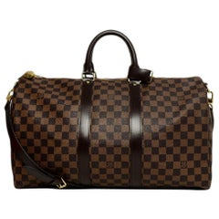 Louis Vuitton Coated Canvas Keepall Bandouliere 45 w/ Lock