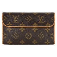 Louis Vuitton Coated Canvas Monogram Pochette Florentine Pouch