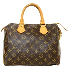 Louis Vuitton Coated Canvas Monogram Speedy 25 Bag