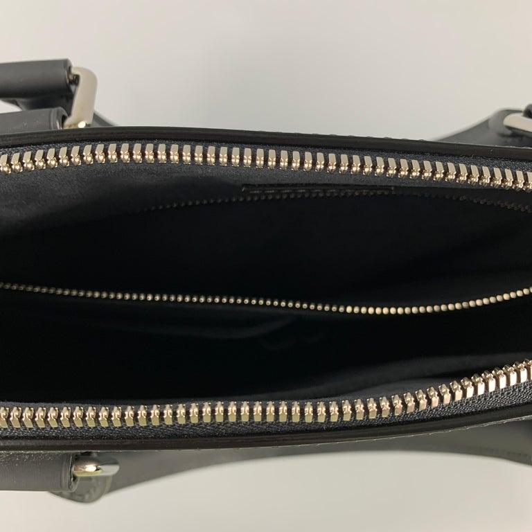 LOUIS VUITTON Cobalt & Black Damier Leather Trim Canvas Greenwich Tote Bag For Sale 2
