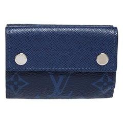 Louis Vuitton Cobalt Monogram Taigarama Discovery Compact Wallet