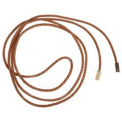 Louis Vuitton Cognac Leather Cord Belt
