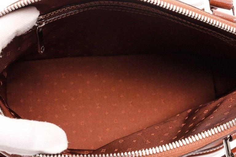 Women's Louis Vuitton Cognac Suhali Leather Lockit PM Bag For Sale
