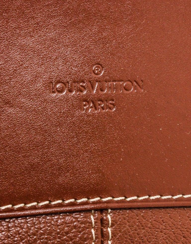 Louis Vuitton Cognac Suhali Leather Lockit PM Bag For Sale 1