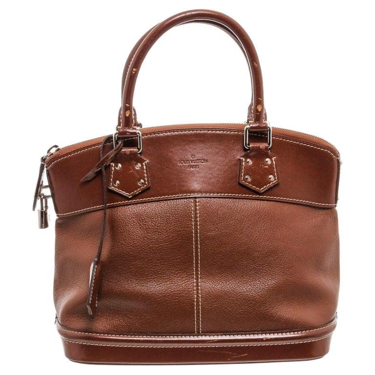 Louis Vuitton Cognac Suhali Leather Lockit PM Bag For Sale