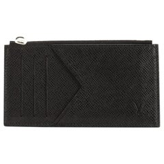 Louis Vuitton Coin Card Holder Taiga Leather