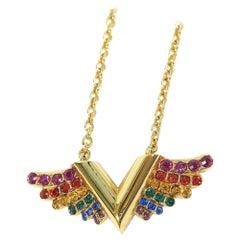 LOUIS VUITTON Collier EssentialV California Dreaming GP unisex necklace M69617 g