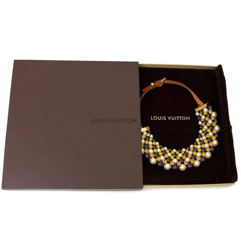 Louis Vuitton Collier Pearls and Crystals In New Condition For Sale In Antwerp, BE