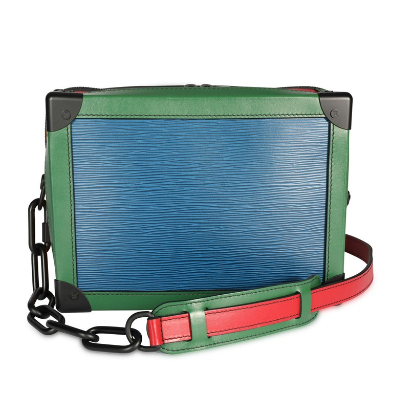 Listing Title: Louis Vuitton Color Block Epi Leather Soft Trunk Bag SKU: 107651  MSRP: USD 4,500.00 Condition Description: From the Men's 2019 Collection, the Soft Trunk pays tribute to Louis Vuitton's iconic trunks. Crafted in Epi Leather with