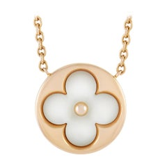 Louis Vuitton Color Blossom Sun Pendant 18k Rose Gold and Mother of Pearl