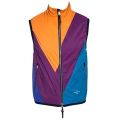 Louis Vuitton Colorblock Synthetic Qulited Reversible Gilet L