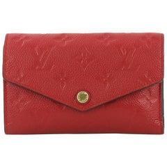 Louis Vuitton Compact Curieuse Wallet Monogram Empreinte Leather