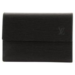 Louis Vuitton Compact Porte Tresor International Wallet Epi Leather