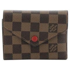 Louis Vuitton Compact Victorine Wallet Damier