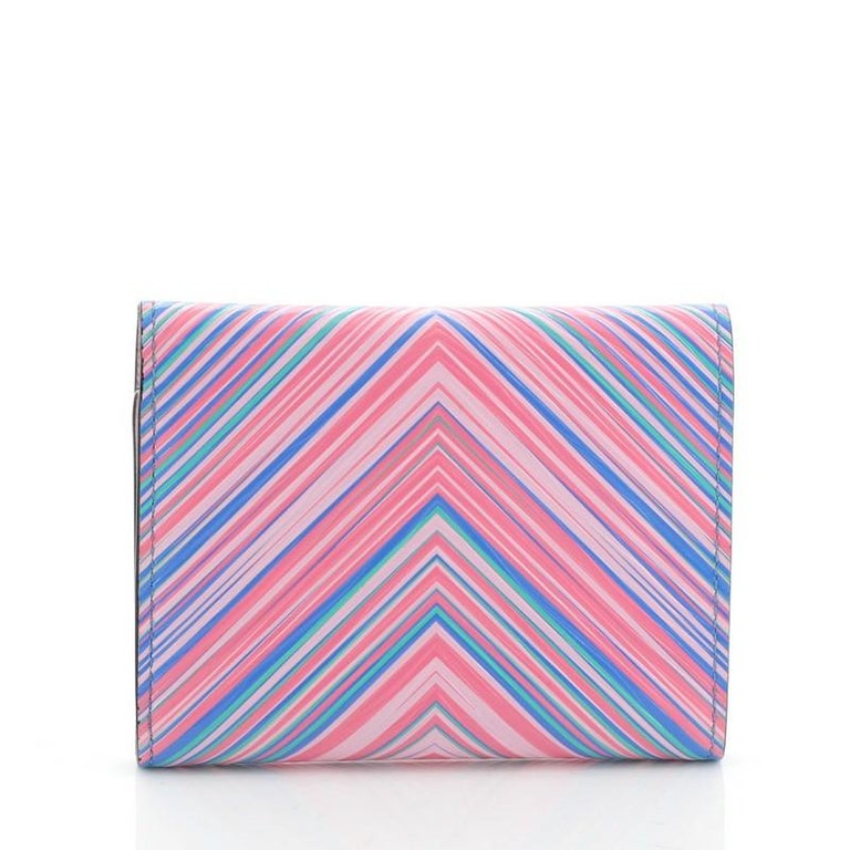 Louis Vuitton Compact Victorine Wallet Limited Edition Tropical Epi Leather In Good Condition For Sale In New York, NY