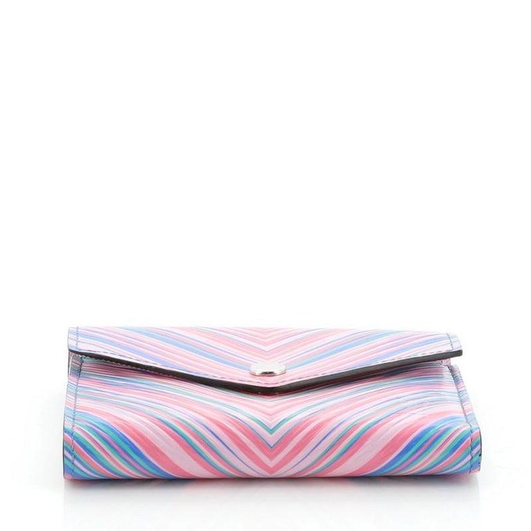 Women's or Men's Louis Vuitton Compact Victorine Wallet Limited Edition Tropical Epi Leather For Sale