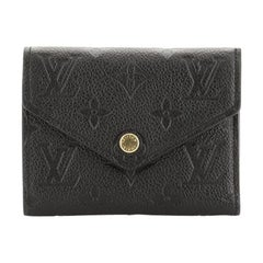 Louis Vuitton Compact Victorine Wallet Monogram Empreinte Leather