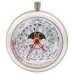 Louis Vuitton Complications 18 Karat White Gold World Time Quartz Watch 2444074
