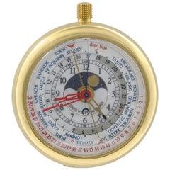 Louis Vuitton Complications 18 Karat Yellow Gold World Time Quartz Watch 2417349