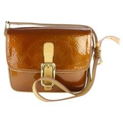 Louis Vuitton  Copper Monogram Vernis Gm 7lz1130 Brown Patent Cross Body Bag