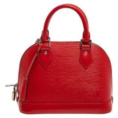 Louis Vuitton Coquelicot Epi Leather Alma BB Bag