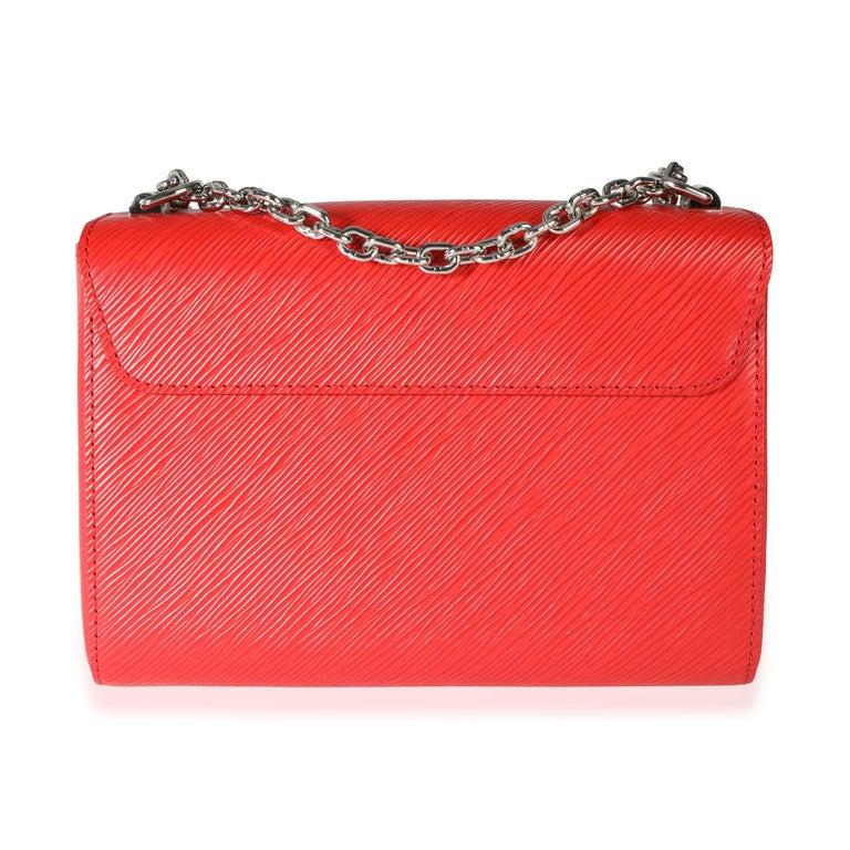 Louis Vuitton Coquelicot Epi Leather Twist Chain MM For Sale 1