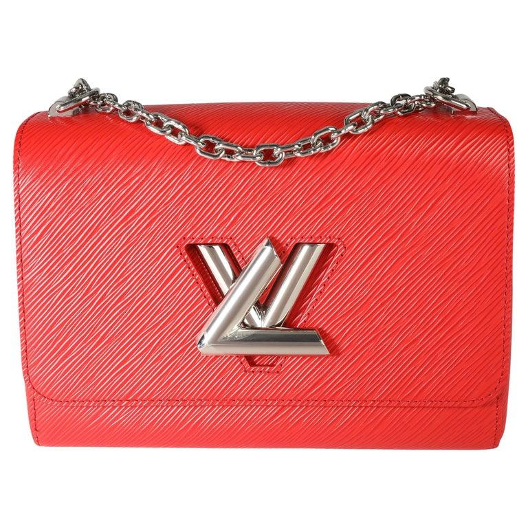 Louis Vuitton Coquelicot Epi Leather Twist Chain MM For Sale
