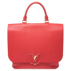 Louis Vuitton Coquelicot Taurillon Leather Volta Bag