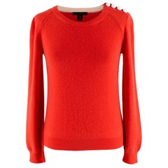 Louis Vuitton Coral Cashmere Blend Long-Sleeve Buttoned Jumper XS