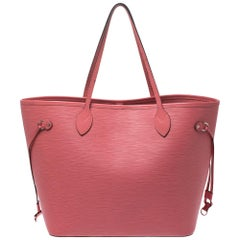 Louis Vuitton Coral Epi Leather Neverfull MM Bag