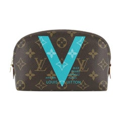 Louis Vuitton Cosmetic Pouch Limited Edition Cities Monogram Canvas