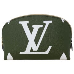 Louis Vuitton Cosmetic Pouch Mono Giant Khaki Green/ Beige