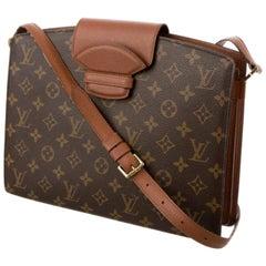 Louis Vuitton Courcelles Monogram 9lz0625 Brown Coated Canvas Shoulder Bag