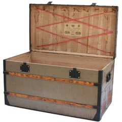 Louis Vuitton Courier Trunk with JJW Initials, circa 1880