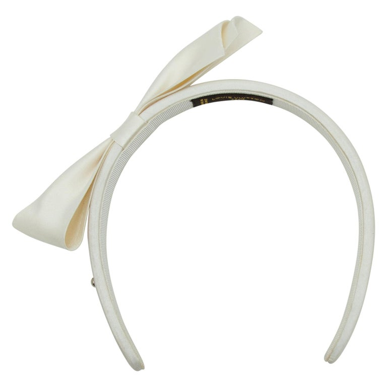 Louis Vuitton Cream Spring/Summer 2013 Headband For Sale