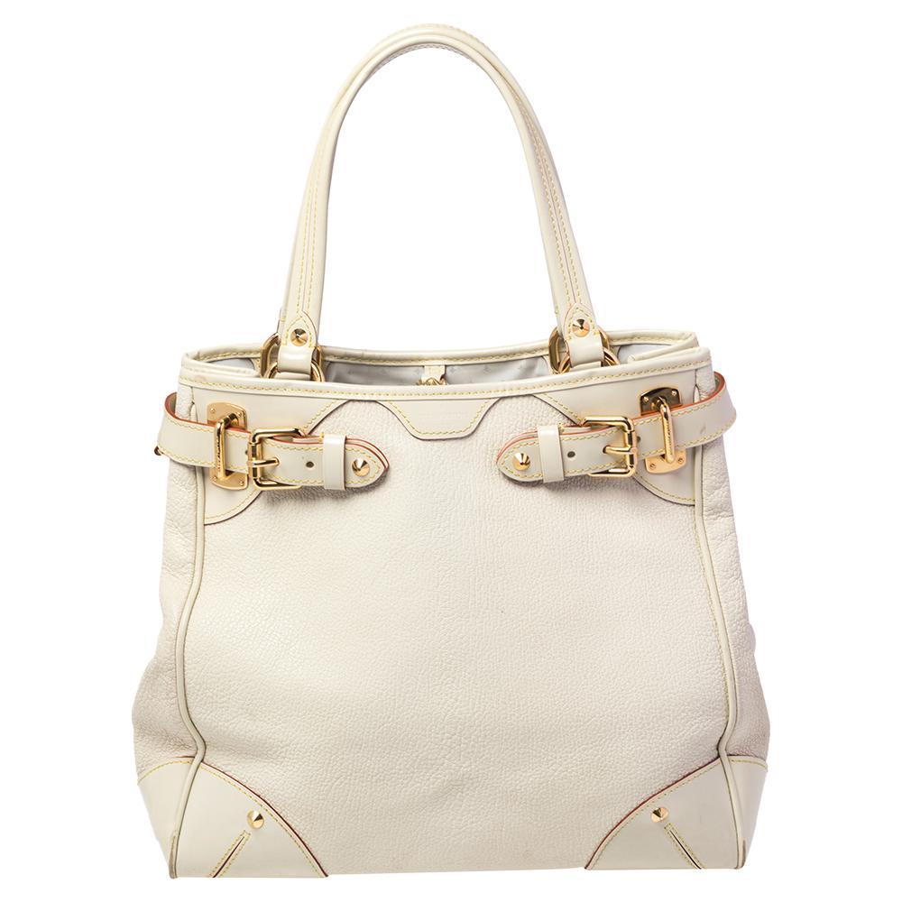 Louis Vuitton Cream Suhali Leather Le Majestueux Bag