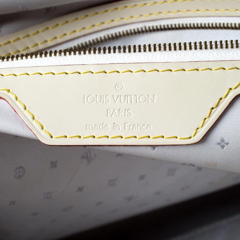 Louis Vuitton Cream Suhali Leather Lockit GM Bag For Sale 3